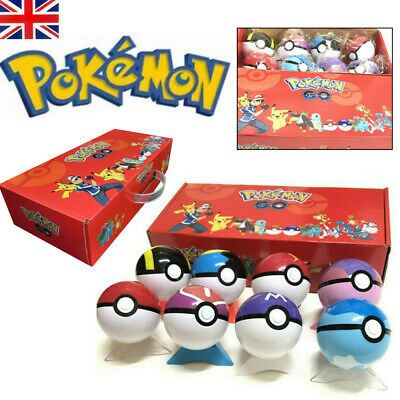 8Pcs/set PokeBall Kids Toys Ball Christmas Action Figures Toy Child Xmas Gifts • 17.79£