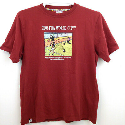 £13.81 • Buy 2006 FIFA World Cup Germany T Shirt Mens Large (Eur XL) Rust Brown Graphic S/S