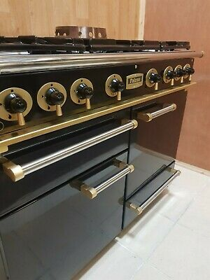 All Gas Falcon 110 Cm Range Cooker In Black And Brass. Ref--a121 • 1,530£