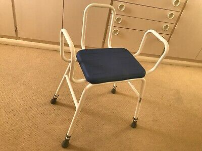 £25 • Buy HEAVY DUTY PERCHING STOOL With Armrests + Backrest - 9 MONTHS USE