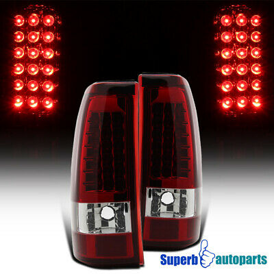 $107.98 • Buy For 2003-2006 Chevy Silverado LED Tail Lights Stop Lamps Red Replacement