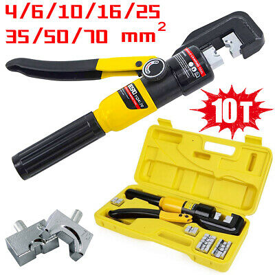 £33.99 • Buy 10 Ton Hydraulic Crimper Crimping Tool Dies Battery Cable Wire Hose Lug Terminal