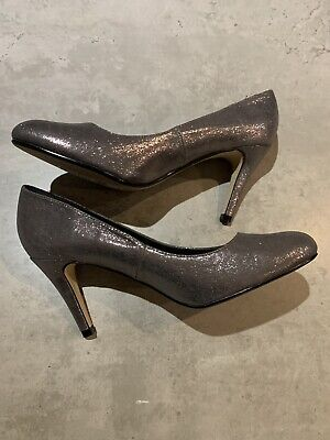 Womens New DOROTHY PERKINS PEWTER COURT SHOES SIZE 7 • 7£