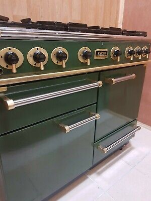 All Gas Falcon 110 Range Cooker In Green And Brass. Ref--a122 • 1,285£