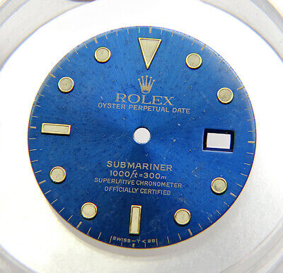 $ CDN378.87 • Buy Genuine Rolex Submariner 16613 16618 16803 Faded Blue & Gold Tritium Watch Dial