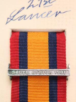AU15.22 • Buy Qsa Ksa Queens South Africa 1901 Medal Ribbon Bar Clasp Boer War Campaign Full S