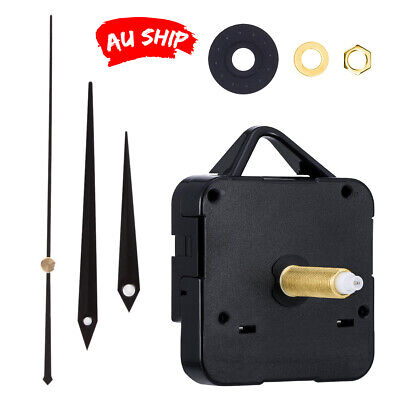 AU12.95 • Buy Silent Clock Mechanism Movement Set DIY Wall Quartz Replacement Spindle Part Kit