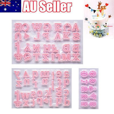 AU9.39 • Buy Cake Cookie Cutter Mold Capital/letter/number Fondant Cake Decorating Tool