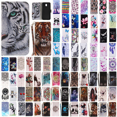 AU14.38 • Buy For Samsung Galaxy J3 J5 J7 Pro 2017 Painted Flip Leather Wallet Card Case Cover