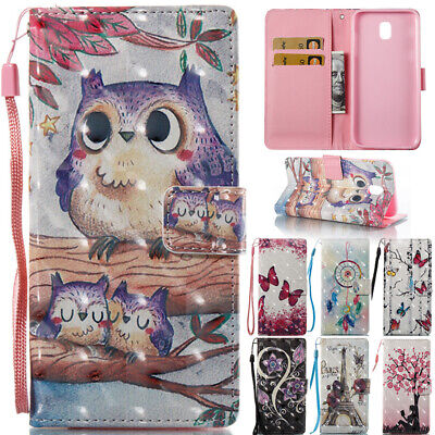AU14.38 • Buy For Samsung Galaxy J3 J5 J7 Pro 2017 Patterned Leather Wallet Stand Case Cover