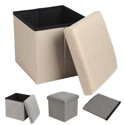30x30cm Single Ottoman Pouffe Foot Stool Padded Seat Cube Soft Portable Bench • 8.99£