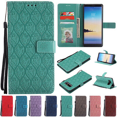 AU14.89 • Buy Leather Wallet Card Slots Case Card Holder Flip Cover For Samsung Galaxy Phones