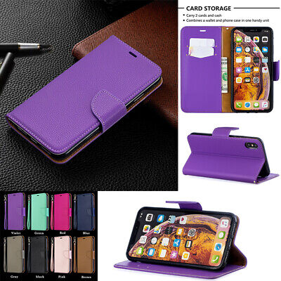 AU14.86 • Buy For IPhone XS Max XR 7 8 Magnet Flip Leather Card Holder Stand Phone Case Cover