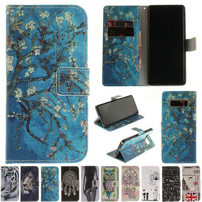 AU14.38 • Buy For Samsung Galaxy Phones Magnetic Painted Flip Leather Wallet Stand Case Cover