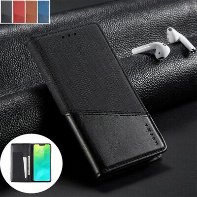 AU13.68 • Buy For OPPO Reno Z 2  F1s A5 A9 2020 Luxury Magnetic Leather Wallet Flip Case Cover