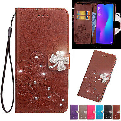AU15.88 • Buy For OPPO AX5 A73 R9 R15 R17 Pro Bling Magnetic Leather Sparkel Wallet Case Cover