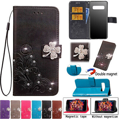 AU15.88 • Buy Leather Wallet Bling Case Flip Stand Shockproof Cover For Samsung Galaxy Phones