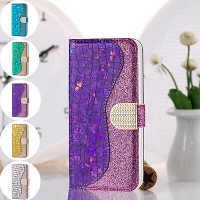 AU14.89 • Buy For IPhone 12 Pro Max 7 8+ Bling Glitter Diamond Flip Leather Wallet Case Cover