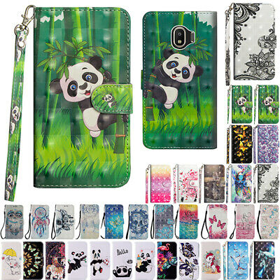AU14.38 • Buy For Samsung Galaxy J2 Pro 2018 Painted Wallet Flip Leather Card Slots Case Cover