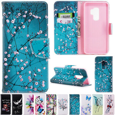 AU14.38 • Buy Painted Magnetic Flip Leather Wallet Stand Case Cover For Samsung Galaxy Phones
