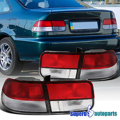 $85.98 • Buy For 1996-2000 Honda Civic 2Dr Coupe Tail Lights Brake Lamps Red