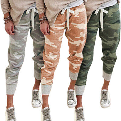 £13.20 • Buy Women Camouflage Casual Sports Trousers Jogging Camo Long Jogger Pants Bottoms