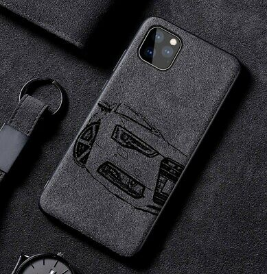 Car Logo Case For IPhone 11/11pro/11promax/x/xr/xsmax/7/8/plus  Alcantara Cover  • 15.99£
