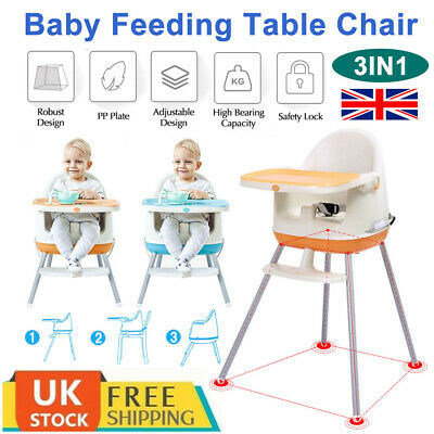 Portable Travel Baby High Chair Infant Child Adjustable Toddler Feeding Seat UK • 22.99£