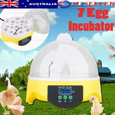 AU24.99 • Buy Mini 7 Egg Incubator Fully Auto Digital LED Turning Chicken Eggs Poultry Hatcher