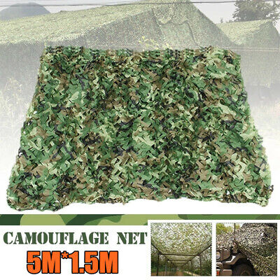 5M*1.5M Net Cover Camouflage Netting Hunting Shooting Camping Army Hide Shelter • 10.98£