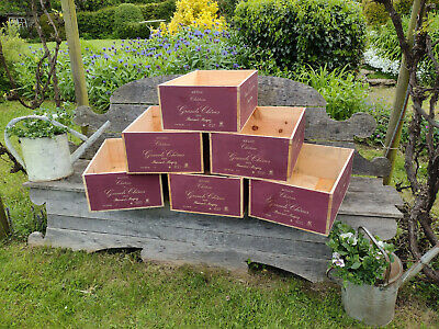 £19.95 • Buy Wooden Wine Box Crate~Chateau Grands Chenes~12 Bottle Box French Storage Hamper