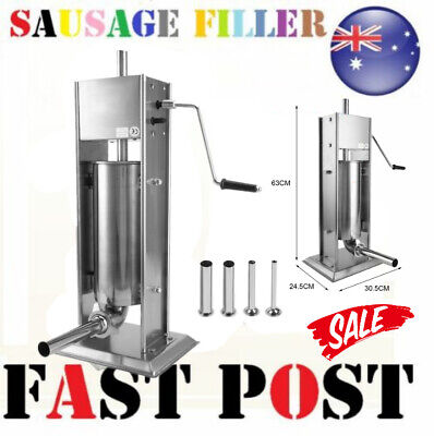 AU139.99 • Buy 7l Sausage Filler Stuffer 304 Stainless Steel Meat Maker Machine Manual 2 Speed@