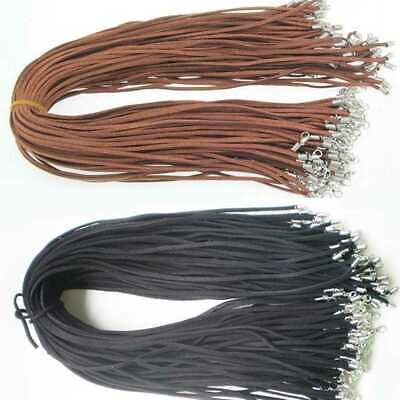 £2.66 • Buy 10pcs Leather Necklace Lobster Clasp Rope Cord String For Pendants Black Brown