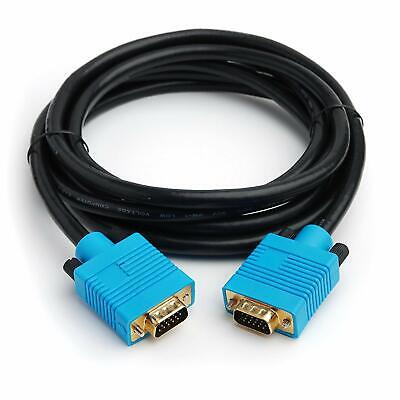 10M - CPO Gold Plated VGA HD15 DDC Monitor SVGA Cable Laptop Black And Blue #J12 • 5.95£