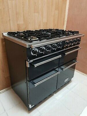Falcon 100 Deluxe Dual Fuel Range Cooker In Black And Chrome. Ref--a125 • 1,730£