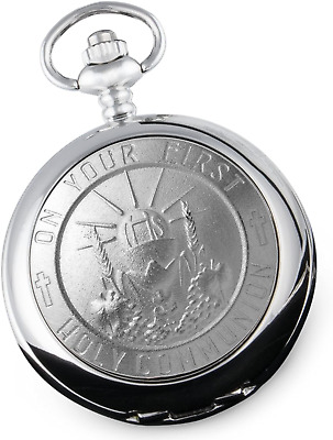 £43.27 • Buy Boy's First Holy Communion Pocket Watch Gift Boys 1st Communion Gifts