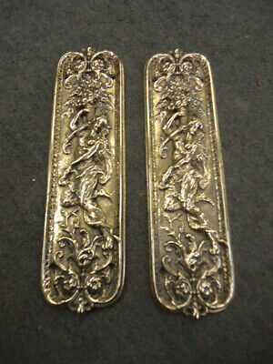 £145 • Buy Quality Pair Of Victorian Cast Brass Finger Plates