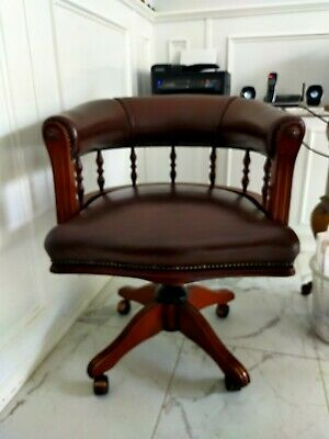 AU300 • Buy Genuine Leather Antique Style Captain's Office Chair