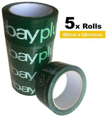 AU9.99 • Buy 5 X EBAY LICENCED PLUS PACKING TAPE - OFFICIAL BRAND  - 5CM X 68M