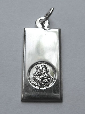 Sterling Silver Small St Christopher Ingot Pendant 2.08g • 15.99£