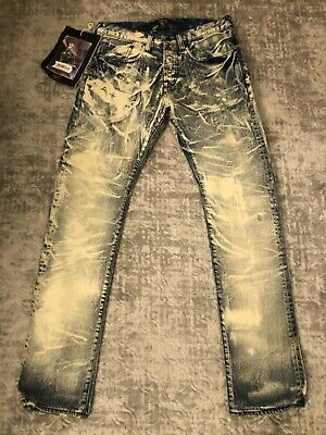 New Men's PRPS Goods Demon Slim Fit Selvedge Bleached Jeans 32 RARE  • 85.24£