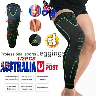 AU18.17 • Buy Thigh High Compression Knee Brace Full Leg Sleeve Support Running Jogging Sports
