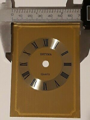 £0.99 • Buy New Estyma Quartz Carriage Clock Face Dial Numeral Roman Number Gold Brass Metal