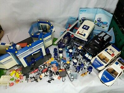 Playmobil Police Bundle 5184, 3166, 4263. Helicopter Car Swat Van Station Bike.  • 79.95£