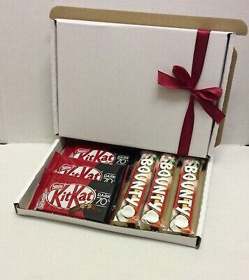 Bounty And Kitkat Dark Chocolate Gift Hamper Box Personalised B'day Mother's Day • 8.99£