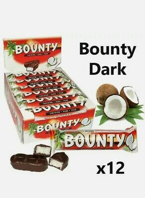 £11.99 • Buy BOUNTY DARK CHOCOLATE 57g X 12 Bars Free Delivery Cheapest Case Box.BBE3/10/2021