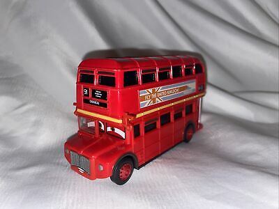 $ CDN19 • Buy Disney Pixar Cars 2 Double Decker London Bus Diecast 1:55 Scale EUC UK Crosshead