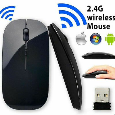 AU10.99 • Buy Wireless Cordless Mouse Optical Scroll 2.4GHz For PC Laptop Computer USB Reciver