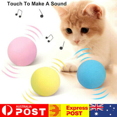 AU9.89 • Buy Interactive Cat Toys Smart Touch Sound Ball Pet Training Simulation Squeaker