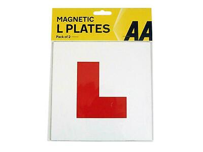 £2.95 • Buy AA 2x Magnetic L Plates UK Learner Exterior Secure Car Driver Plate Sign Pair